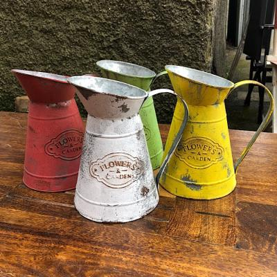 Retro Galvanised Metal Jug