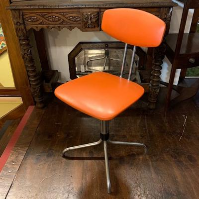 Retro Orange & Chrome Chair