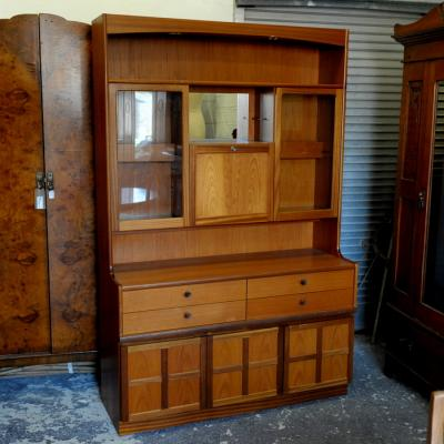 Retro Teak Sideboard Wall Unit