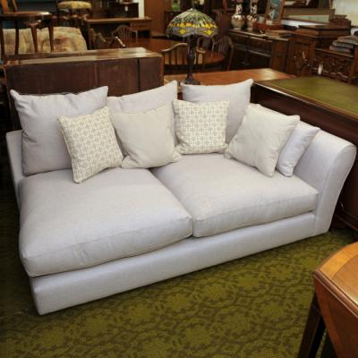 Scatterback Cream And Grey Chaise Sofa