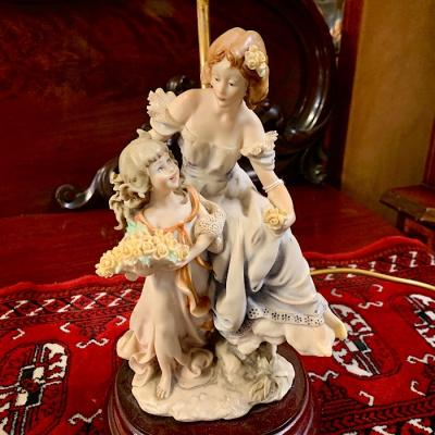 Seated Lady Figurine Lamp
