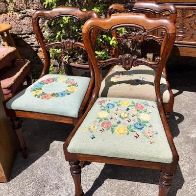 Set of 3 Rosewood Dining Chairs