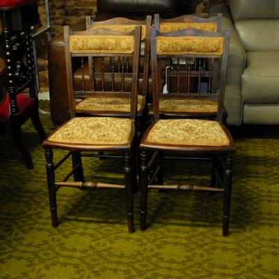 Set of 4 Edwardian Salon Chairs