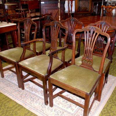Set of 6 Georgian Style Dining Chairs