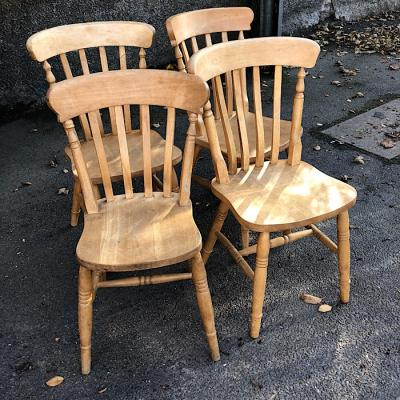 Set Of Four Farmhouse Chairs