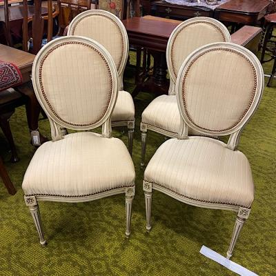 Set of four French Salon Chairs