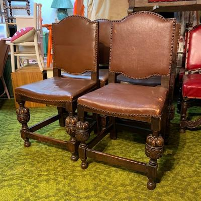 Set of Oak Dining Chairs