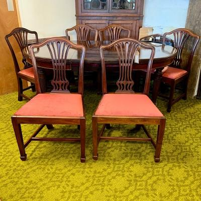 Six Georgian Mahogany Dining Chairs