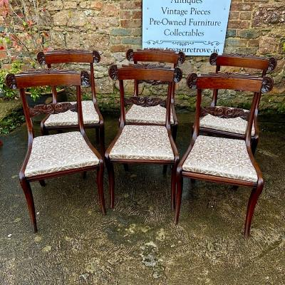 Six Regency Mahogany Dining Chairs