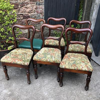 Six Victorian Dining Chairs