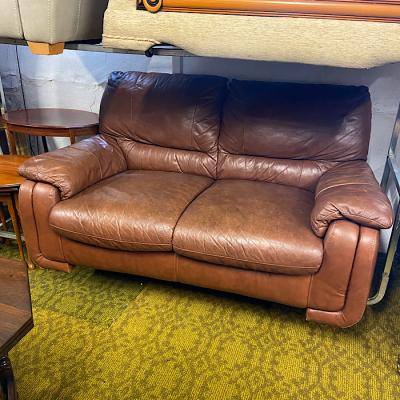 Soft Leather Two Seater Sofa