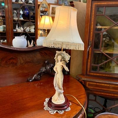 Tall Lady Figurine Lamp