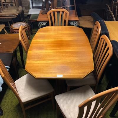 Teak Extending Table & Six Chairs