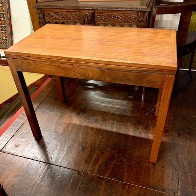 Teak Fold Over Card Table