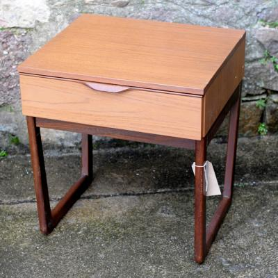 Teak Single Drawer Bedside Table