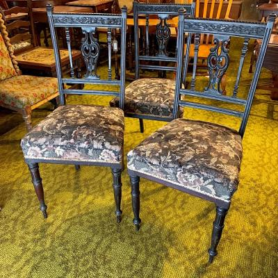 Three Victorian Chairs