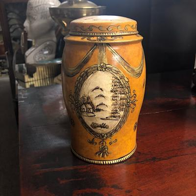 Tole Ware Style Jar