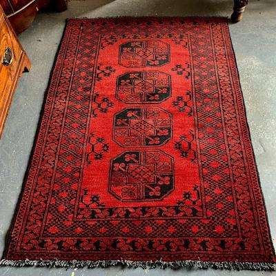 Traditional Afghan Aqcha Rug