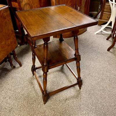 Two Tier Square Oak Table