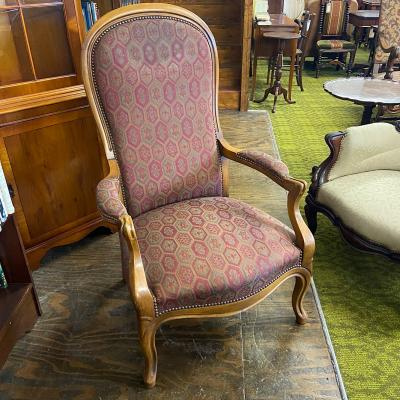Upholstered French Style Armchair