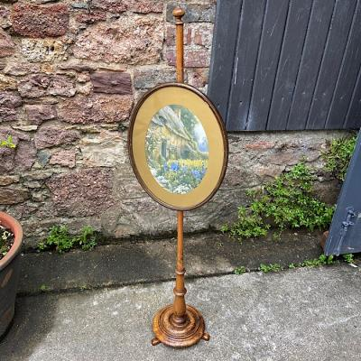 Victorian Beech Pole Screen
