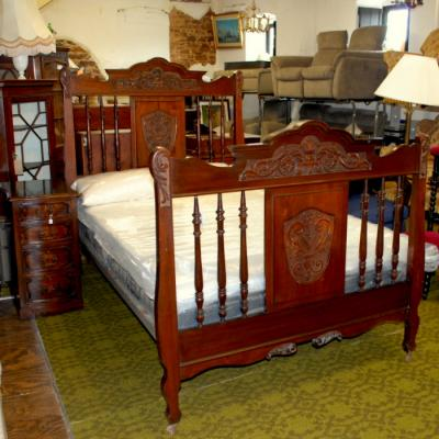 Victorian Carved Double Bed Frame