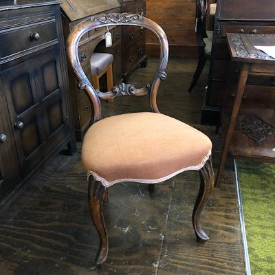 Victorian Carved Spoon back Chair