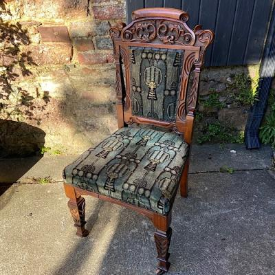 Victorian Carved Walnut Side Chair