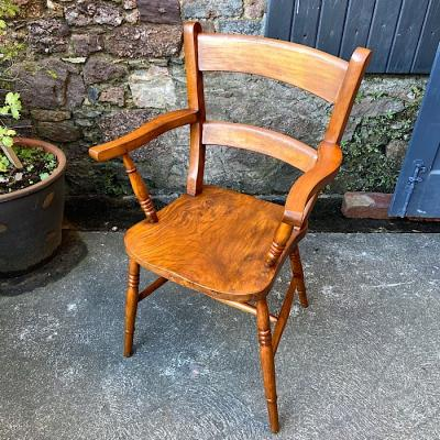 Victorian Elm & Beech Elbow Chair