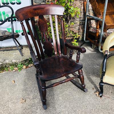 Victorian Elm & Beech Heavy Rocking Chair