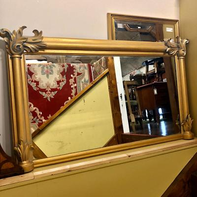 Victorian Gilt Framed Overmantel Mirror