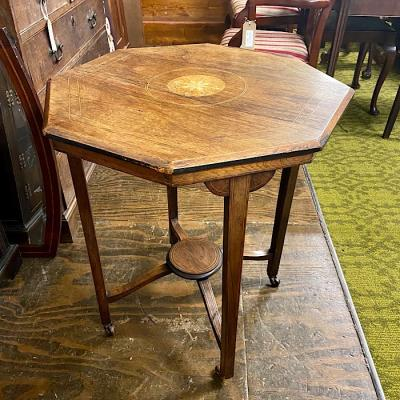 Victorian Inlaid Rosewood Octagonal Occasional Table