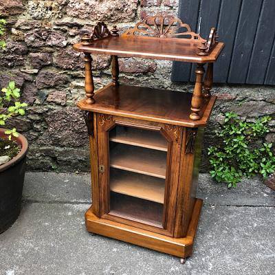 Victorian Inlaid Walnut Music Cabinet