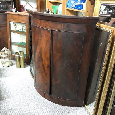 Victorian Mahogany Bow Front Corner Cabinet