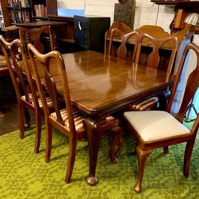 Victorian Mahogany Dining Table & Six Mahogany Chairs