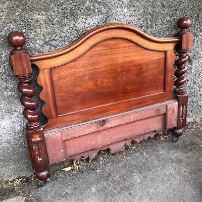 Victorian Mahogany Double Headboard