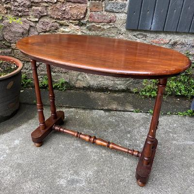 Victorian Mahogany Oval Stretcher Table