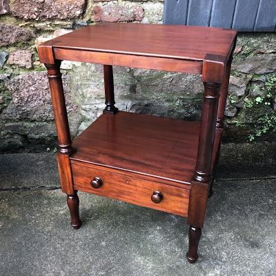 Victorian Mahogany Two Tear Whatnot