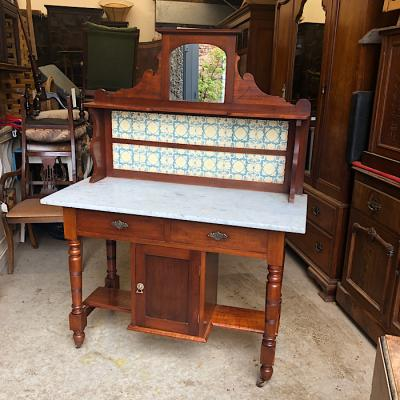Victorian Marble Top Wash Stand