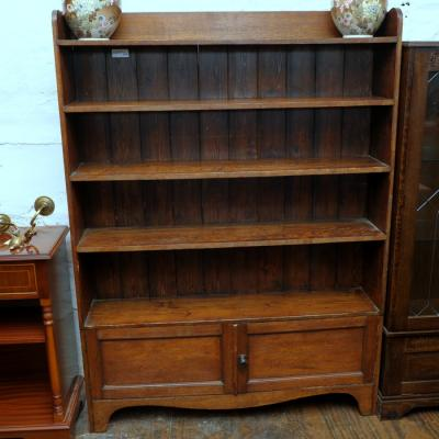 Victorian Open Oak Bookcase