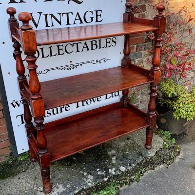 Victorian Stained Pine Three Tier Dumb Waiter