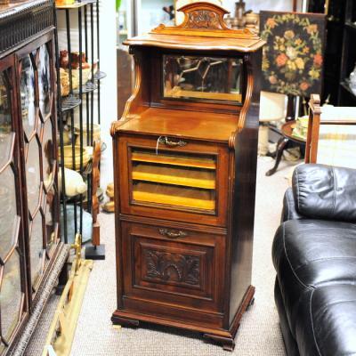 Victorian Walnut Music Cabinet