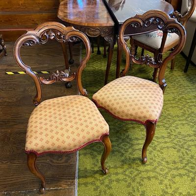 Victorian Walnut Upholstered Chairs