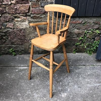 Vintage Beech Child's High Chair