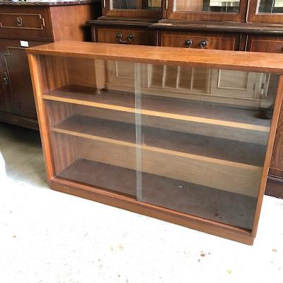 Vintage Bookcase with Sliding Glass Doors