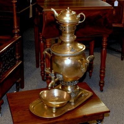 Vintage Brass Samovar