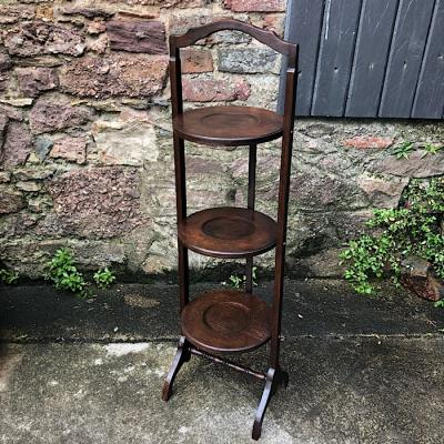 Vintage Folding Three Tier Cake Stand