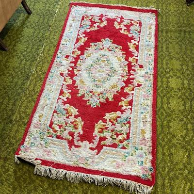 Vintage Hand Knotted Indian Wool Rug