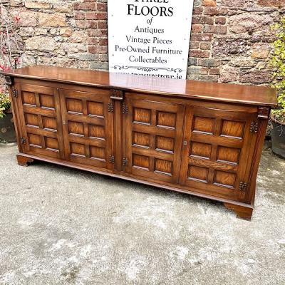Vintage Large Oak Sideboard