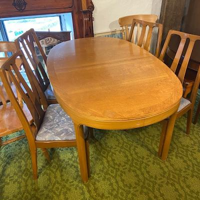 Vintage Nathan Teak Extending Dining Table& Four Chairs